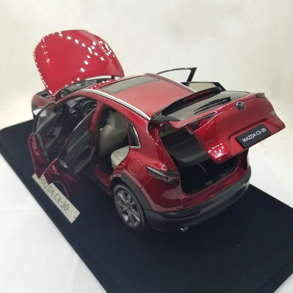 1:18 Diecast Model for Mazda CX-30 2020 Red SUV Alloy Toy Car Miniature Collection Gift CX30 CX 30