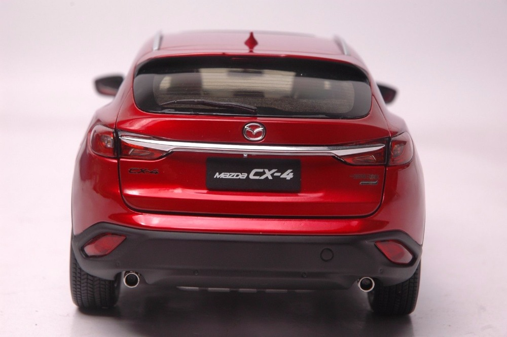 1:18 Diecast Model for Mazda CX-4 2016 Red SUV Alloy Toy Car Miniature Collection Gifts CX 4 CX4 (Alloy Toy Car, Diecast Scale Model Car, Collectible Model Car, Miniature Collection Die-cast Toy Vehicles Gifts)