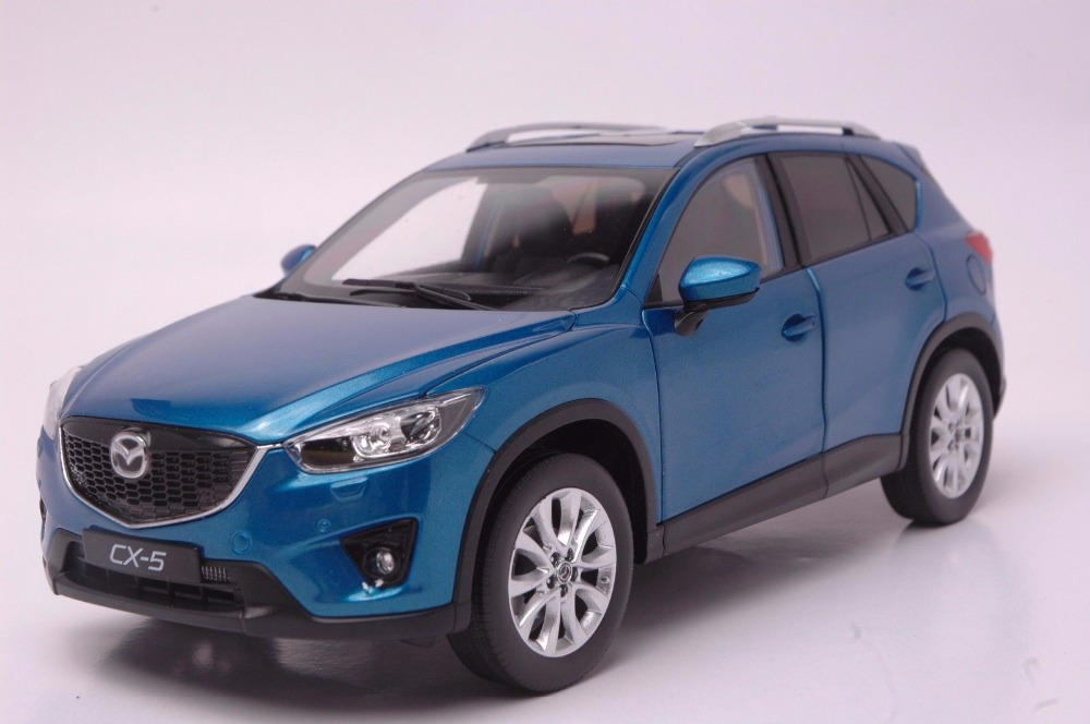 1:18 Diecast Model for Mazda CX-5 2014 Blue SUV Alloy Toy Car Miniature Collection Gift CX5 CX 5 (Alloy Toy Car, Diecast Scale Model Car, Collectible Model Car, Miniature Collection Die-cast Toy Vehicles Gifts)
