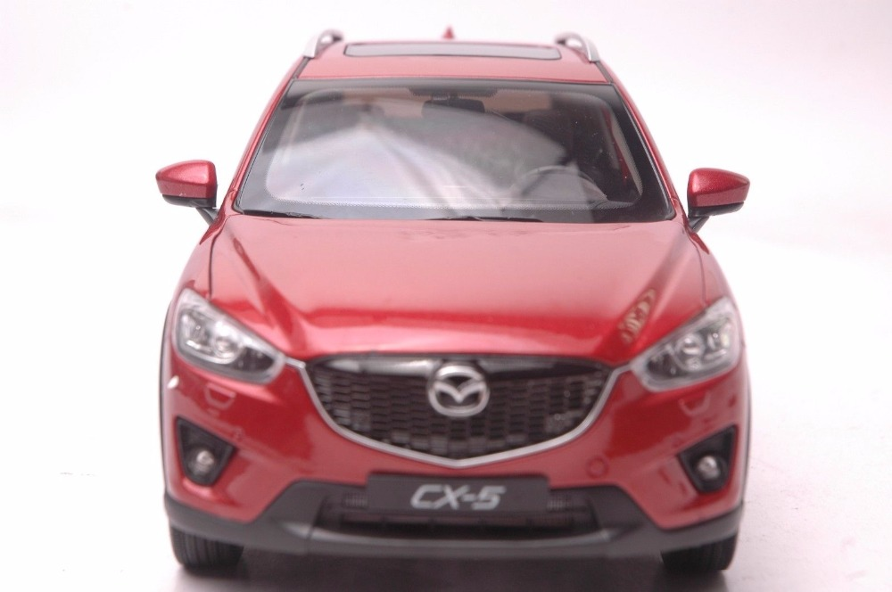 1:18 Diecast Model for Mazda CX-5 2014 Red SUV Alloy Toy Car Miniature Collection Gift CX5 CX 5 (Alloy Toy Car, Diecast Scale Model Car, Collectible Model Car, Miniature Collection Die-cast Toy Vehicles Gifts)