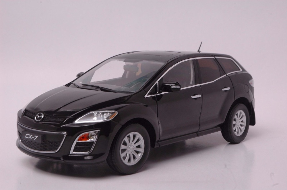 1:18 Diecast Model for Mazda CX-7 Black SUV Alloy Toy Car Miniature Collection Gift CX7 CX (Alloy Toy Car, Diecast Scale Model Car, Collectible Model Car, Miniature Collection Die-cast Toy Vehicles Gifts)