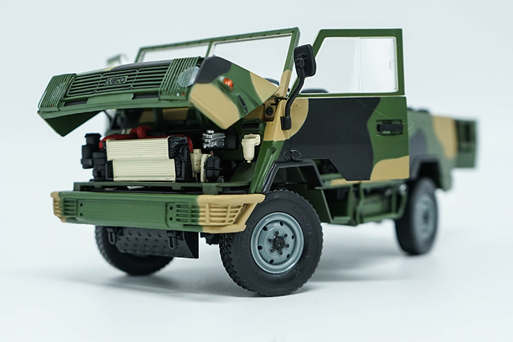 1:24 Diecast Model for NAVECO IVECO NJ2046 ARMY Truck (Camouflage) Alloy Toy Car Miniature Collection Gifts Van (Alloy Toy Car, Diecast Scale Model Car, Collectible Model Car, Miniature Collection Die-cast Toy Vehicles Gifts)