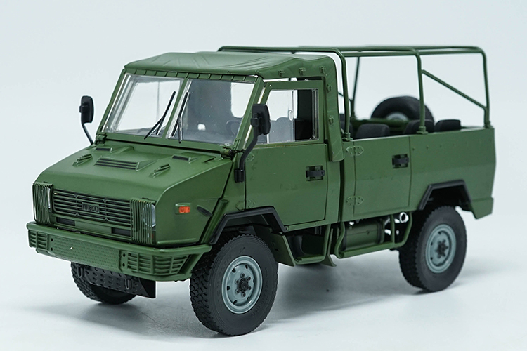 1:24 Diecast Model for NAVECO IVECO NJ2046 ARMY Truck (Green) Alloy Toy Car Miniature Collection Gifts Van (Alloy Toy Car, Diecast Scale Model Car, Collectible Model Car, Miniature Collection Die-cast Toy Vehicles Gifts)