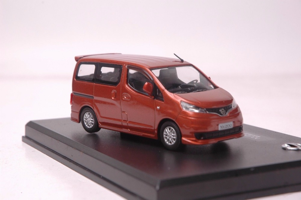 1:43 Diecast Model for NISSAN NV200 Orange MPV Rare Alloy Toy Car Miniature Collection Gifts NV Van (Alloy Toy Car, Diecast Scale Model Car, Collectible Model Car, Miniature Collection Die-cast Toy Vehicles Gifts)
