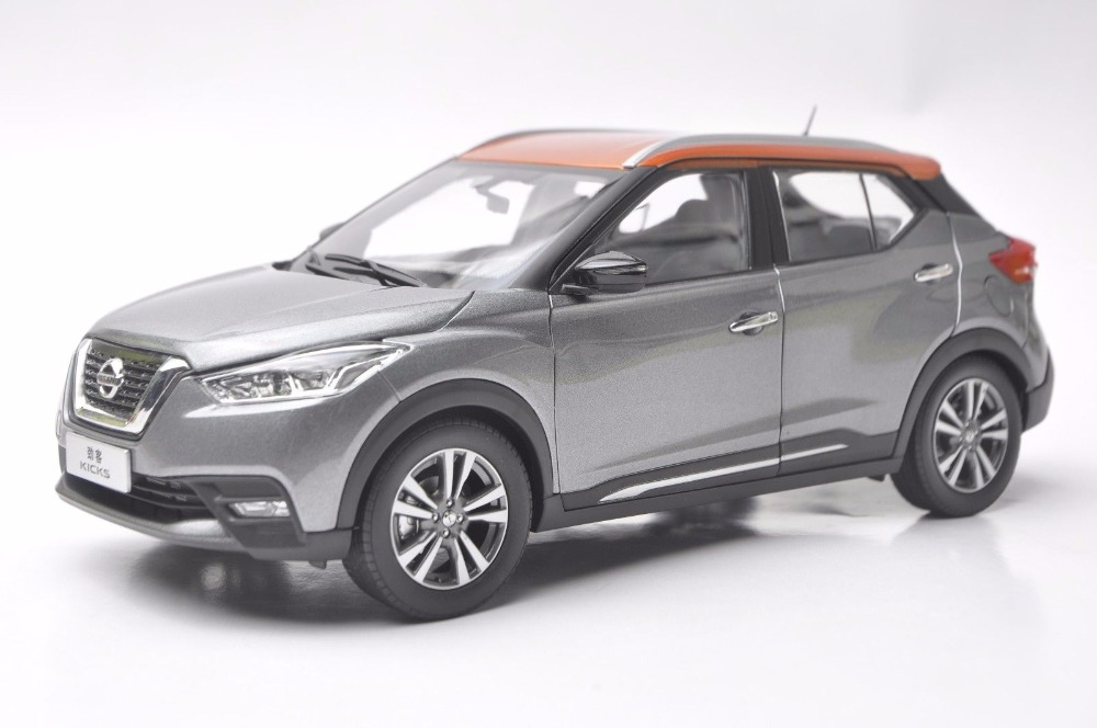 1:18 Diecast Model for Nissan KICKS 2017 Gray Mini SUV Alloy Toy Car Miniature Collection Gifts (Alloy Toy Car, Diecast Scale Model Car, Collectible Model Car, Miniature Collection Die-cast Toy Vehicles Gifts)