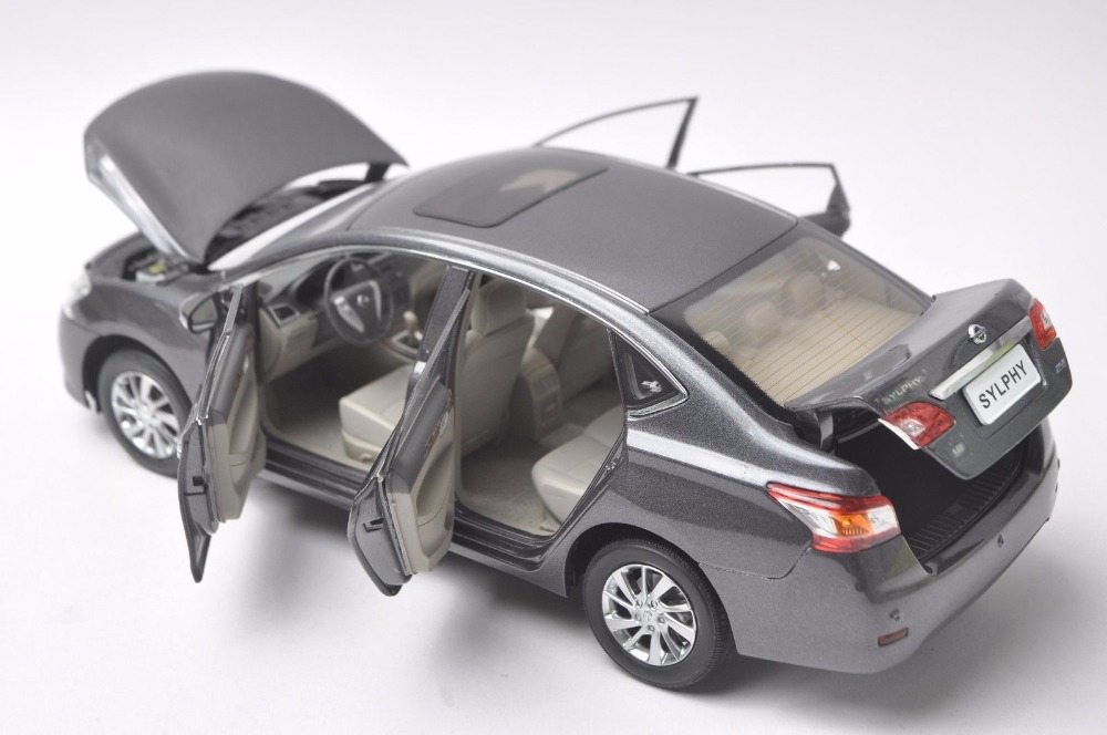 1:18 Diecast Model for Nissan Sylphy Gray Alloy Toy Car Miniature Collection Gifts Sentra (Alloy Toy Car, Diecast Scale Model Car, Collectible Model Car, Miniature Collection Die-cast Toy Vehicles Gifts)