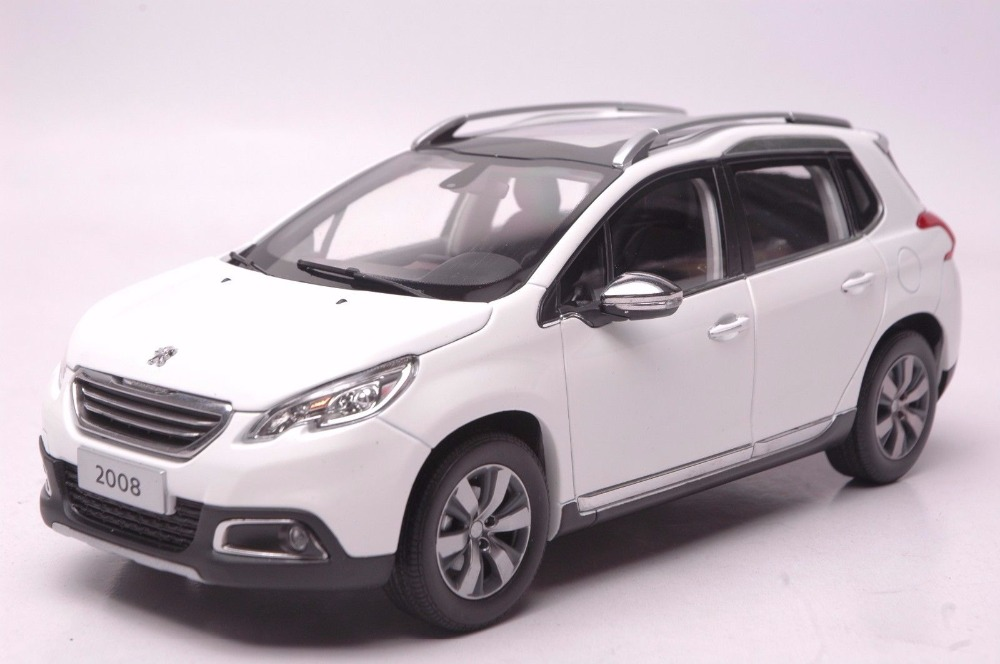 1:18 Diecast Model for Peugeot 2008 White SUV Alloy Toy Car Miniature Collection Gift (Alloy Toy Car, Diecast Scale Model Car, Collectible Model Car, Miniature Collection Die-cast Toy Vehicles Gifts)
