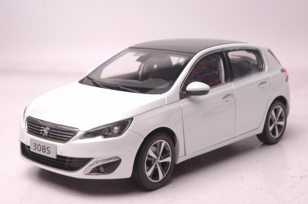 1:18 Diecast Model for Peugeot 308S 2015 White Hatchback Alloy Toy Car Miniature Collection Gift 308 (Alloy Toy Car, Diecast Scale Model Car, Collectible Model Car, Miniature Collection Die-cast Toy Vehicles Gifts)