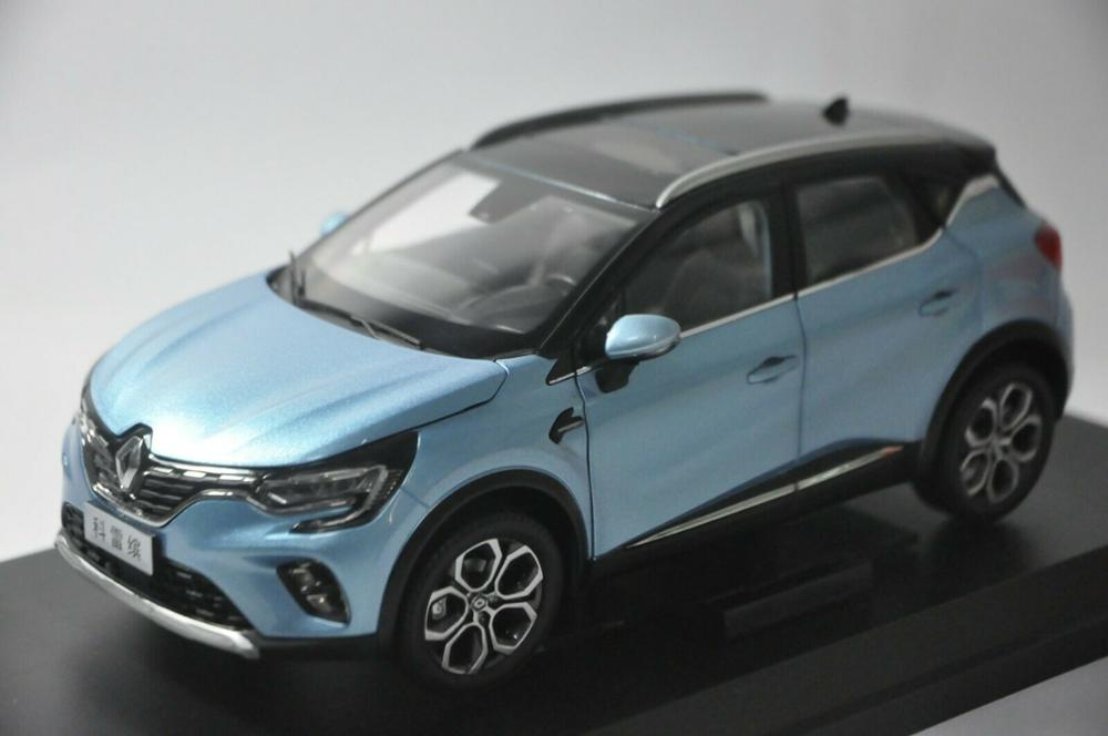 1:18 Diecast Model for Renault Captur 2019 Blue SUV Alloy Toy Car Miniature Collection Gifts Hot Selling Altis