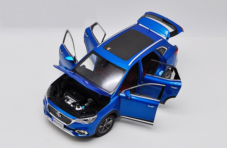1:18 Diecast Model for SAIC MG HS Blue SUV SUV Alloy Toy Car Miniature Collection Gifts Hot Selling