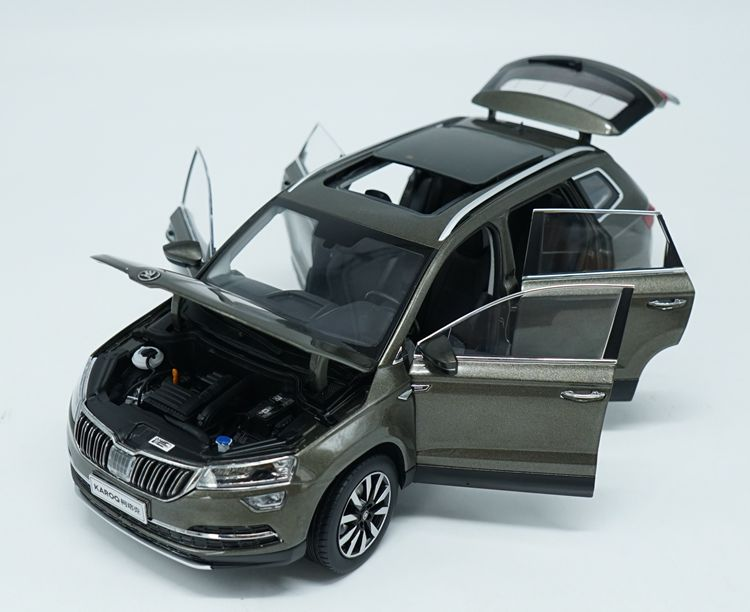 1:18 Diecast Model for Skoda KAROQ Sportline 2018 Brown SUV Alloy Toy Car Miniature Collection (Alloy Toy Car, Diecast Scale Model Car, Collectible Model Car, Miniature Collection Die-cast Toy Vehicles Gifts)