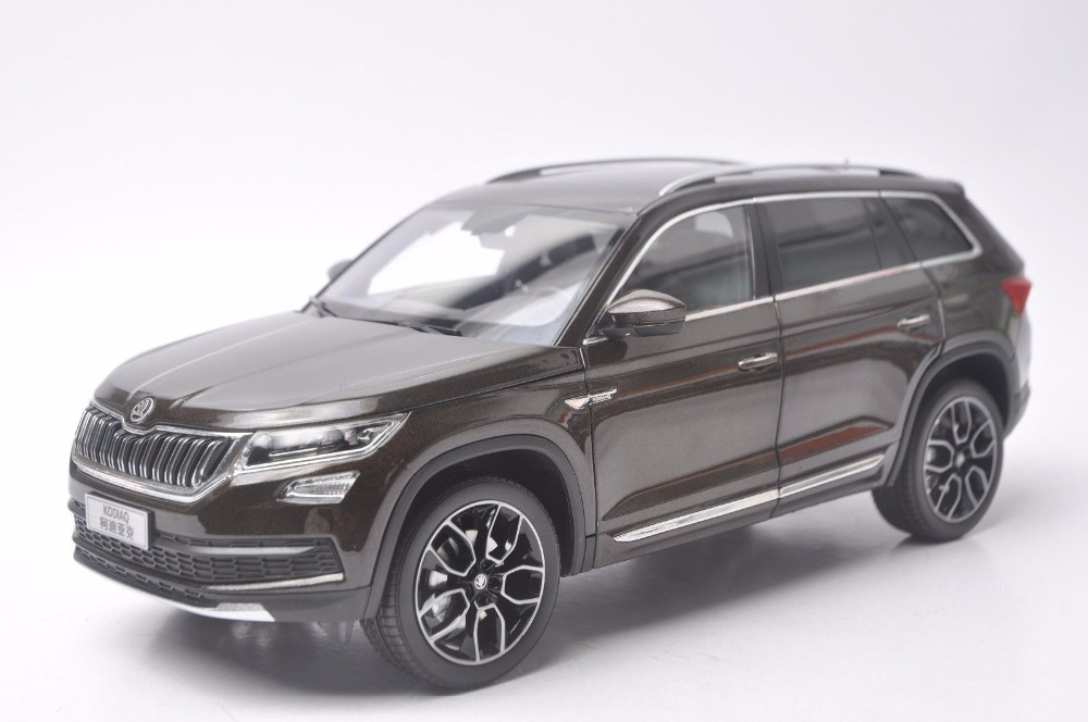1:18 Diecast Model for Skoda Kodiaq 2016 Brown SUV Alloy Toy Car Miniature Collection Gifts (Alloy Toy Car, Diecast Scale Model Car, Collectible Model Car, Miniature Collection Die-cast Toy Vehicles Gifts)