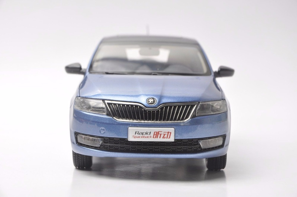 1:18 Diecast Model for Skoda Rapid Spaceback 2016 Blue Alloy Toy Car Miniature Collection (Alloy Toy Car, Diecast Scale Model Car, Collectible Model Car, Miniature Collection Die-cast Toy Vehicles Gifts)
