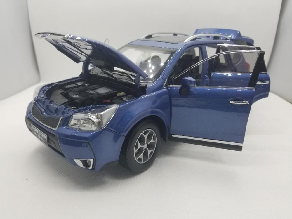 1:18 Diecast Model for Subaru Forester 2014 Blue Alloy Toy Car Miniature Collection Gifts (Alloy Toy Car, Diecast Scale Model Car, Collectible Model Car, Miniature Collection Die-cast Toy Vehicles Gifts)