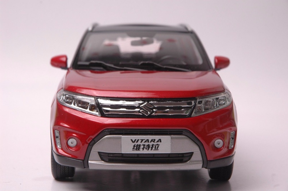1:18 Diecast Model for Suzuki Vitara 2016 Red SUV Alloy Toy Car Miniature Collection Gifts Gran (Alloy Toy Car, Diecast Scale Model Car, Collectible Model Car, Miniature Collection Die-cast Toy Vehicles Gifts)