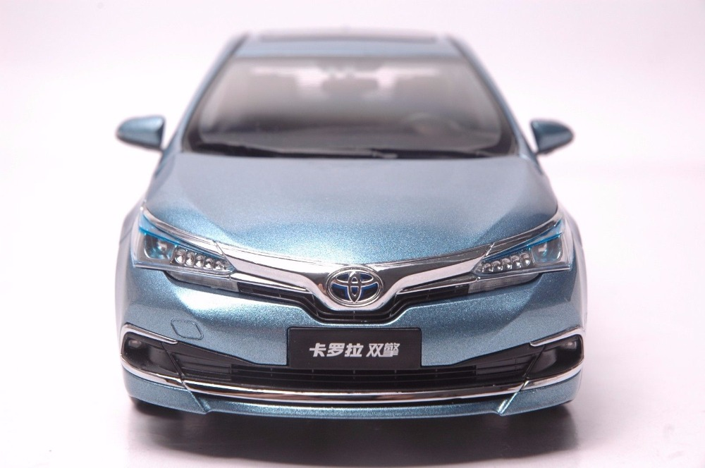 1:18 Diecast Model for Toyota Corolla Hybrid 2015 Blue Alloy Toy Car Miniature Collection Gifts (Alloy Toy Car, Diecast Scale Model Car, Collectible Model Car, Miniature Collection Die-cast Toy Vehicles Gifts)