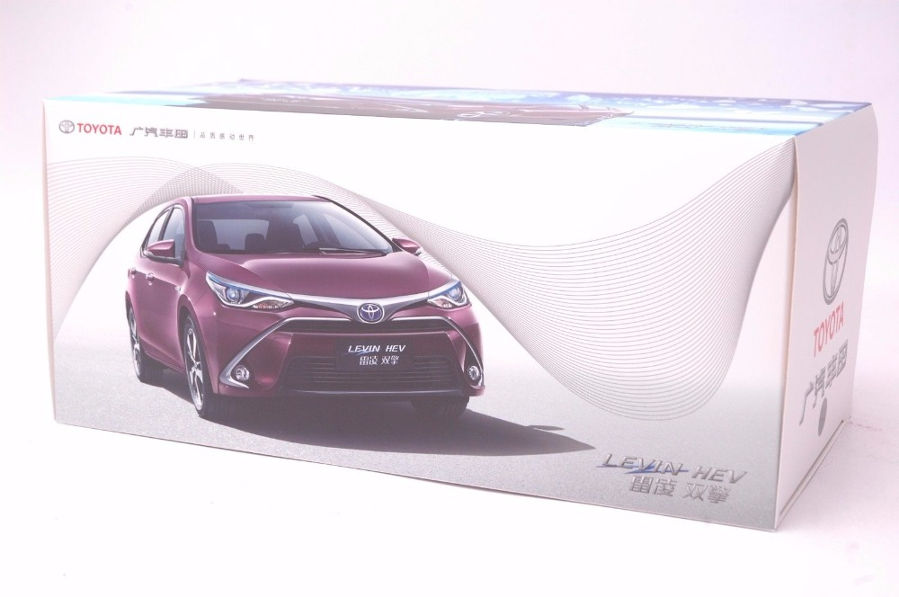 1:18 Diecast Model for Toyota Corolla Levin Hybrid 2016 Purple Alloy Toy Car Miniature Collection Gifts (Alloy Toy Car, Diecast Scale Model Car, Collectible Model Car, Miniature Collection Die-cast Toy Vehicles Gifts)