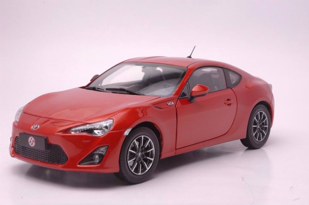 1:18 Diecast Model for Toyota GT86 Red Coupe Alloy Toy Car Miniature Collection Gift Pulsar (Alloy Toy Car, Diecast Scale Model Car, Collectible Model Car, Miniature Collection Die-cast Toy Vehicles Gifts)
