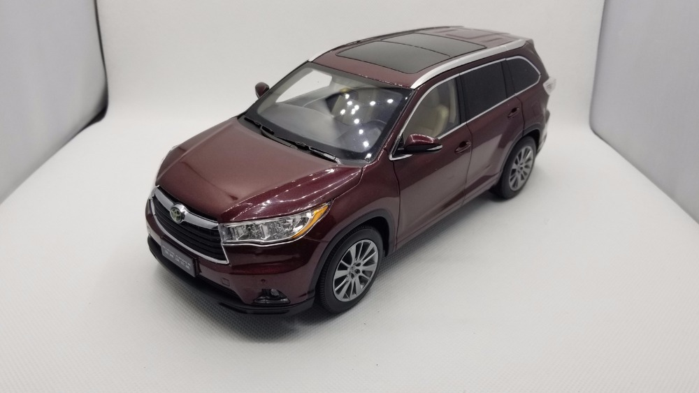 1:18 Diecast Model for Toyota Highlander 2015 Red SUV Alloy Toy Car Miniature Collection Gifts (Alloy Toy Car, Diecast Scale Model Car, Collectible Model Car, Miniature Collection Die-cast Toy Vehicles Gifts)
