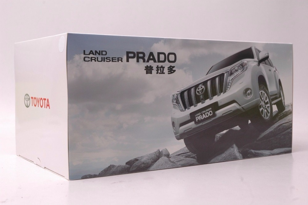 1:18 Diecast Model for Toyota Land Cruiser Prado 2010 Pure White SUV Alloy Toy Car Miniature Collection Gifts (Alloy Toy Car, Diecast Scale Model Car, Collectible Model Car, Miniature Collection Die-cast Toy Vehicles Gifts)
