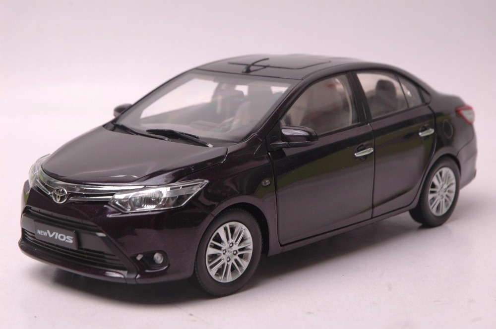 1:18 Diecast Model for Toyota Vios 2013 Purple Alloy Toy Car Miniature Collection Gift (Alloy Toy Car, Diecast Scale Model Car, Collectible Model Car, Miniature Collection Die-cast Toy Vehicles Gifts)