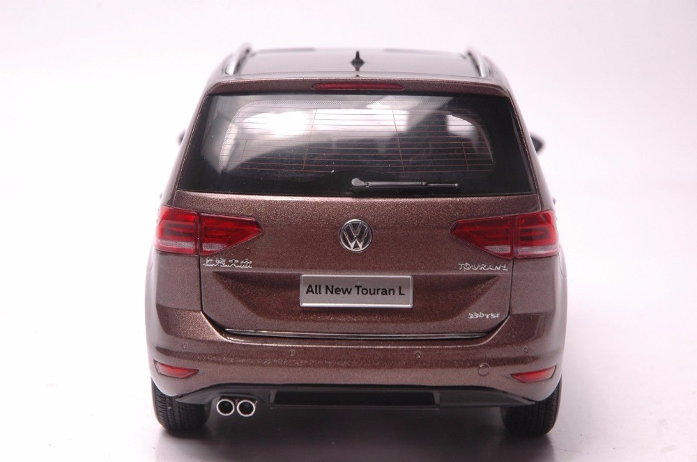 1:18 Diecast Model for Volkswagen VW All New Touran L 2016 Brown MPV Alloy Toy Car Miniature Collection Gifts (Alloy Toy Car, Diecast Scale Model Car, Collectible Model Car, Miniature Collection Die-cast Toy Vehicles Gifts)