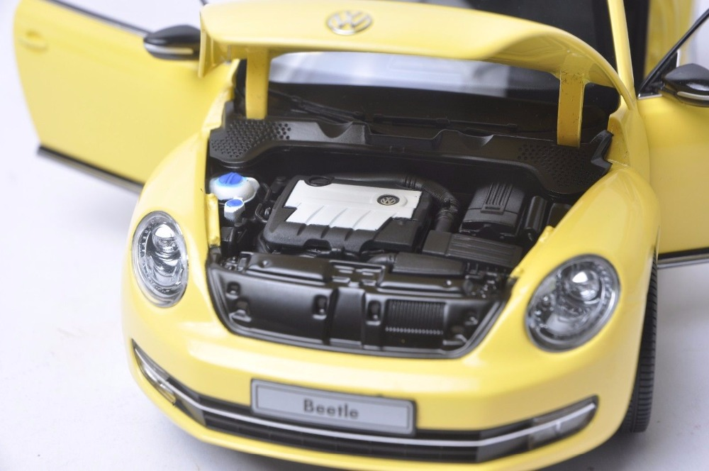 1:18 Diecast Model for Volkswagen VW Beetle Yellow Minicar Alloy Toy Car Miniature Collection Gift (Alloy Toy Car, Diecast Scale Model Car, Collectible Model Car, Miniature Collection Die-cast Toy Vehicles Gifts)