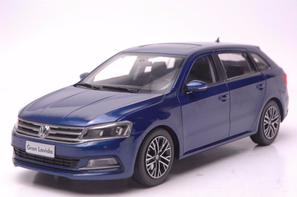 1:18 Diecast Model for Volkswagen VW Gran Lavida 2015 Blue Wagon Alloy Toy Car Miniature Collection Gifts (Alloy Toy Car, Diecast Scale Model Car, Collectible Model Car, Miniature Collection Die-cast Toy Vehicles Gifts)