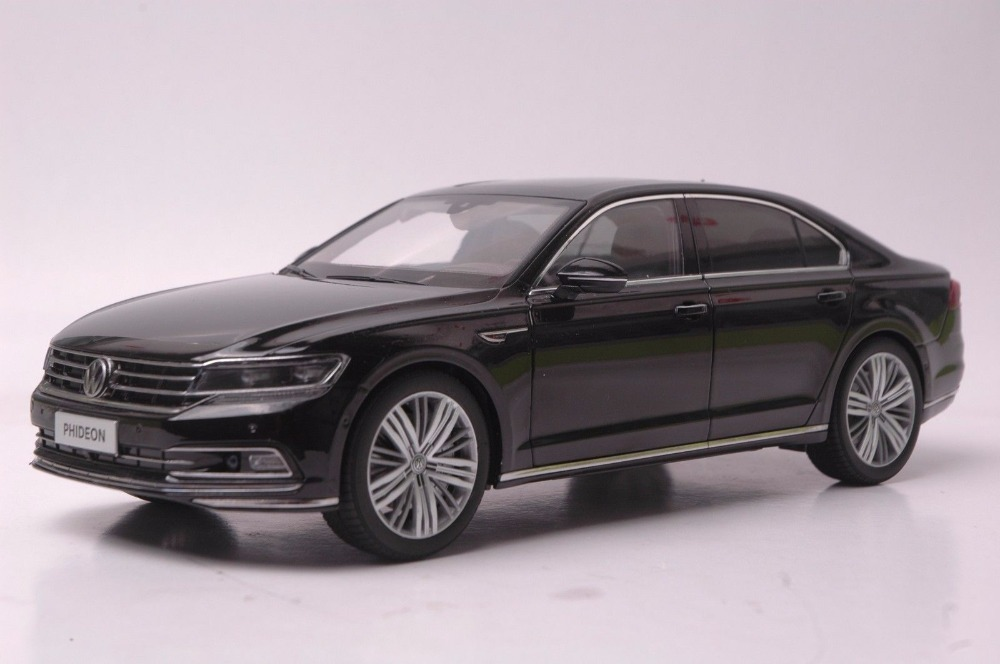 1:18 Diecast Model for Volkswagen VW Phideon 2016 Black Alloy Toy Car Miniature Collection Gift (Alloy Toy Car, Diecast Scale Model Car, Collectible Model Car, Miniature Collection Die-cast Toy Vehicles Gifts)