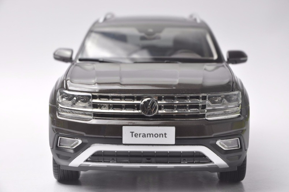 1:18 Diecast Model for Volkswagen VW Teramont Atlas 2017 Brown Large SUV Alloy Toy Car Miniature Collection Gifts (Alloy Toy Car, Diecast Scale Model Car, Collectible Model Car, Miniature Collection Die-cast Toy Vehicles Gifts)