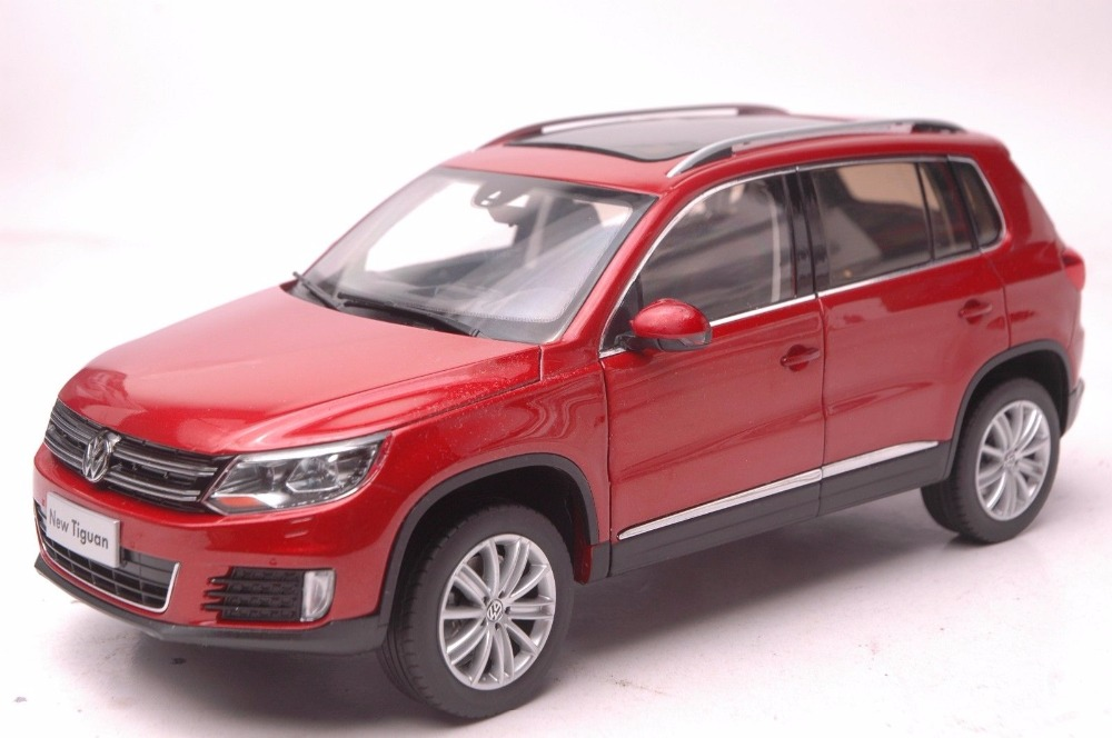 1:18 Diecast Model for Volkswagen VW Tiguan 2013 Red SUV Alloy Toy Car Miniature Collection Gifts (Alloy Toy Car, Diecast Scale Model Car, Collectible Model Car, Miniature Collection Die-cast Toy Vehicles Gifts)