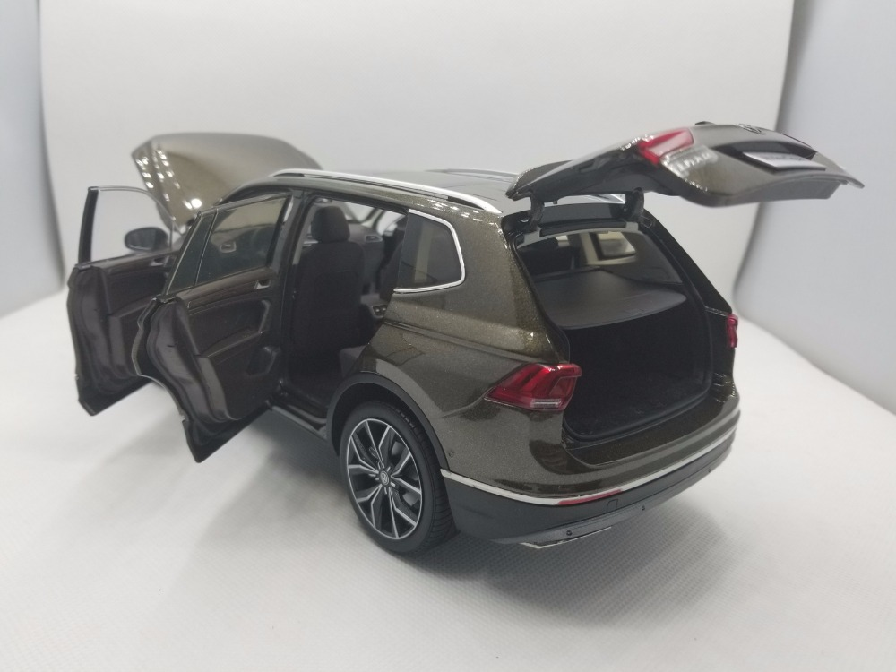 1:18 Diecast Model for Volkswagen VW Tiguan L 2017 Brown Alloy Toy Car Miniature Collection Gifts (Alloy Toy Car, Diecast Scale Model Car, Collectible Model Car, Miniature Collection Die-cast Toy Vehicles Gifts)
