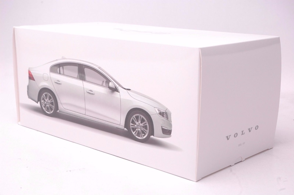 1:18 Diecast Model for Volvo S60L 2015 White Alloy Toy Car Miniature Collection Gifts S60  (Alloy Toy Car, Diecast Scale Model Car, Collectible Model Car, Miniature Collection Die-cast Toy Vehicles Gifts)