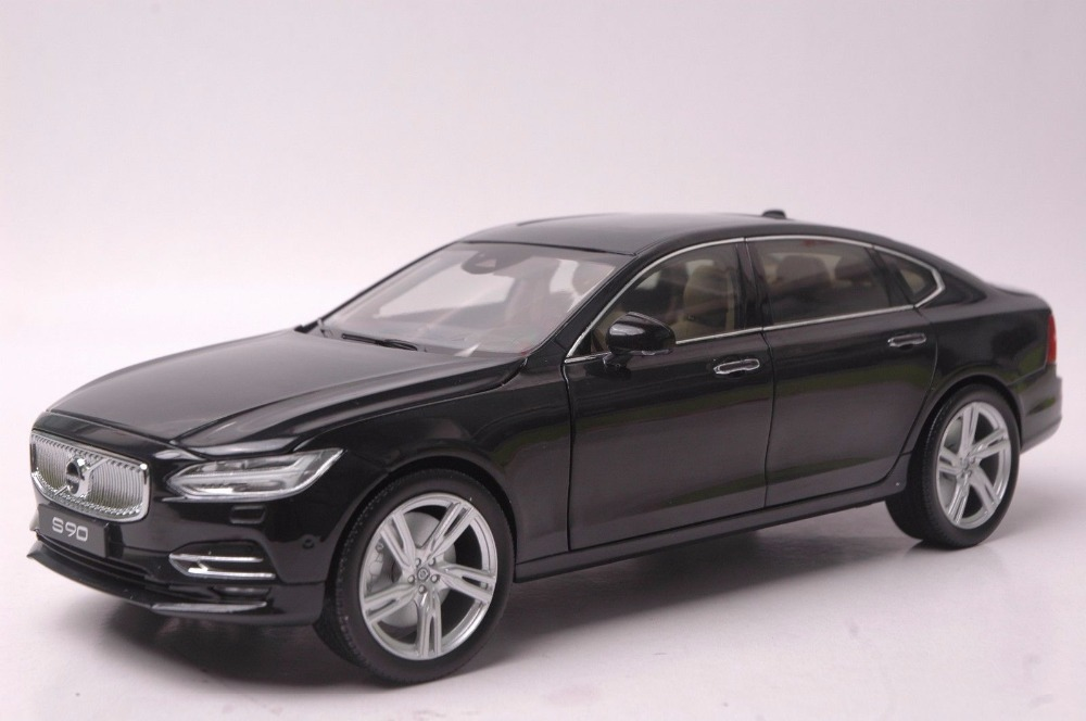 1:18 Diecast Model for Volvo S90 T5H 2016 Black Alloy Toy Car Miniature Collection Gifts (Alloy Toy Car, Diecast Scale Model Car, Collectible Model Car, Miniature Collection Die-cast Toy Vehicles Gifts)