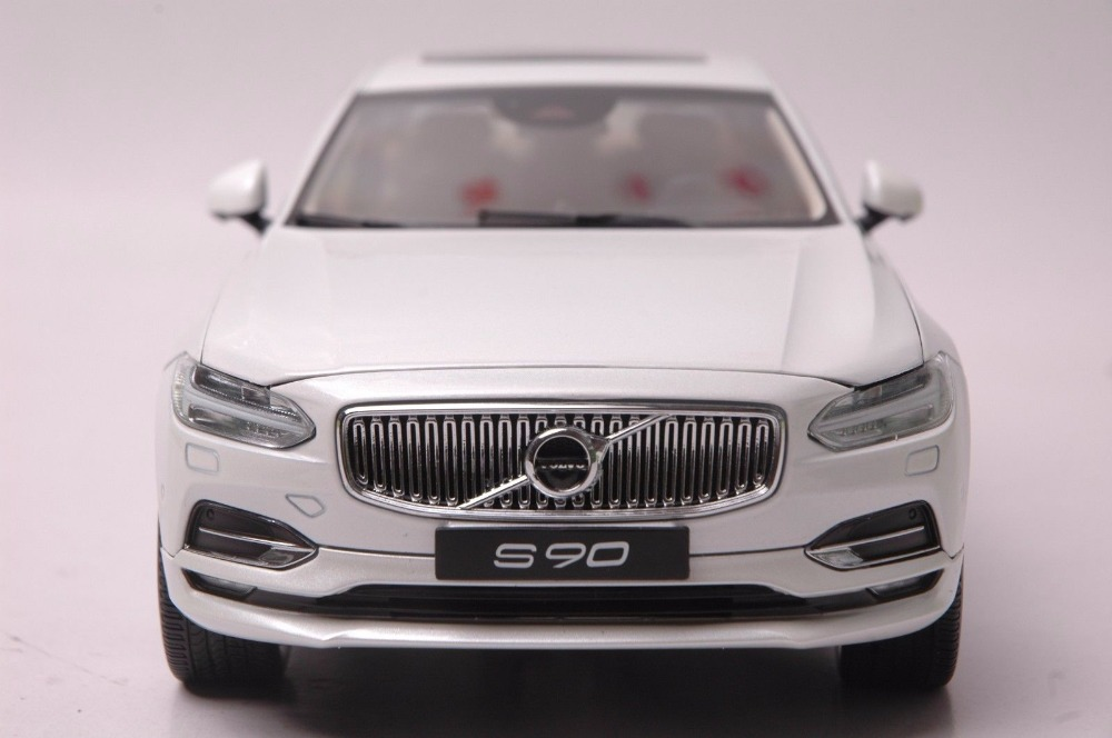 1:18 Diecast Model for Volvo S90 T5H 2016 White Alloy Toy Car Miniature Collection Gifts (Alloy Toy Car, Diecast Scale Model Car, Collectible Model Car, Miniature Collection Die-cast Toy Vehicles Gifts)