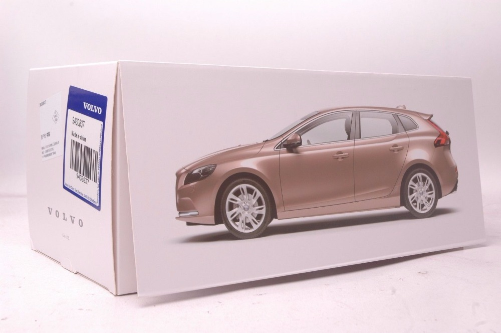 1:18 Diecast Model for Volvo V40 2016 Brown SUV Alloy Toy Car Miniature Collection Gifts XC 90 (Alloy Toy Car, Diecast Scale Model Car, Collectible Model Car, Miniature Collection Die-cast Toy Vehicles Gifts)