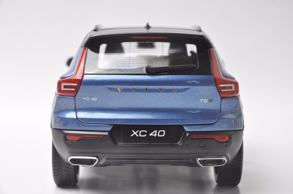 1:18 Diecast Model for Volvo XC40 2018 Blue SUV Alloy Toy Car Miniature Collection Gifts XC 40 (Alloy Toy Car, Diecast Scale Model Car, Collectible Model Car, Miniature Collection Die-cast Toy Vehicles Gifts)