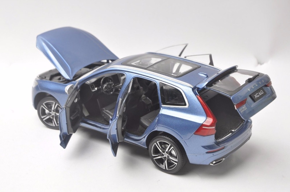 1:18 Diecast Model for Volvo XC60 Sport XC 2018 Blue SUV Alloy Toy Car Miniature Collection Gifts XC 60 (Alloy Toy Car, Diecast Scale Model Car, Collectible Model Car, Miniature Collection Die-cast Toy Vehicles Gifts)