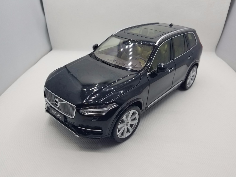 1:18 Diecast Model for Volvo XC90 2015 Black SUV Alloy Toy Car Miniature Collection Gifts XC 90 (Alloy Toy Car, Diecast Scale Model Car, Collectible Model Car, Miniature Collection Die-cast Toy Vehicles Gifts)