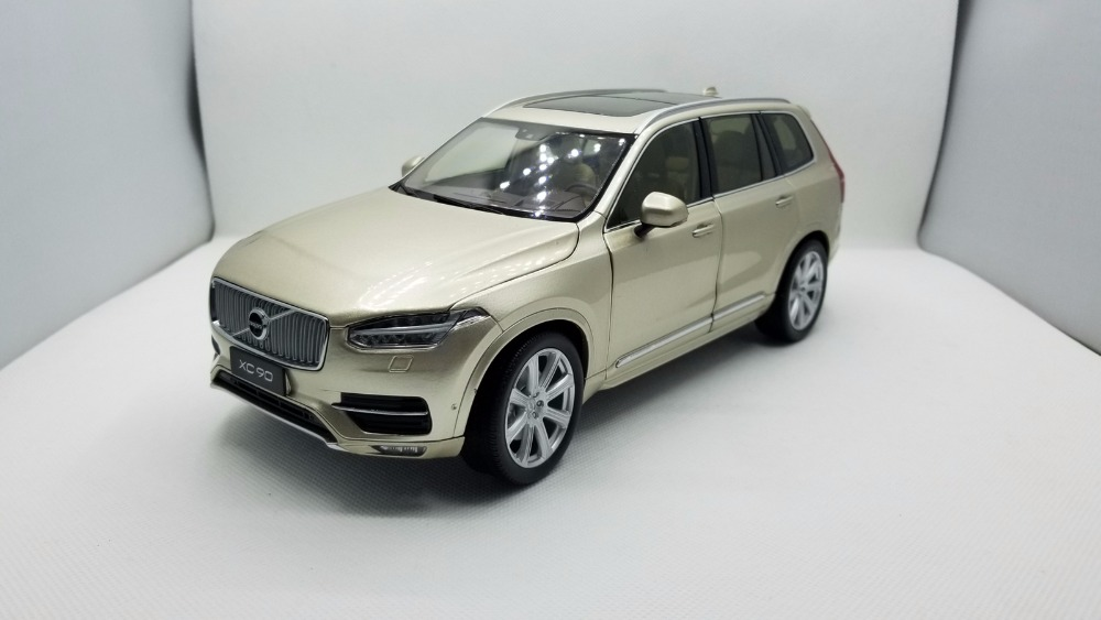 1:18 Diecast Model for Volvo XC90 2015 Gold SUV Alloy Toy Car Miniature Collection Gifts XC 90 (Alloy Toy Car, Diecast Scale Model Car, Collectible Model Car, Miniature Collection Die-cast Toy Vehicles Gifts)