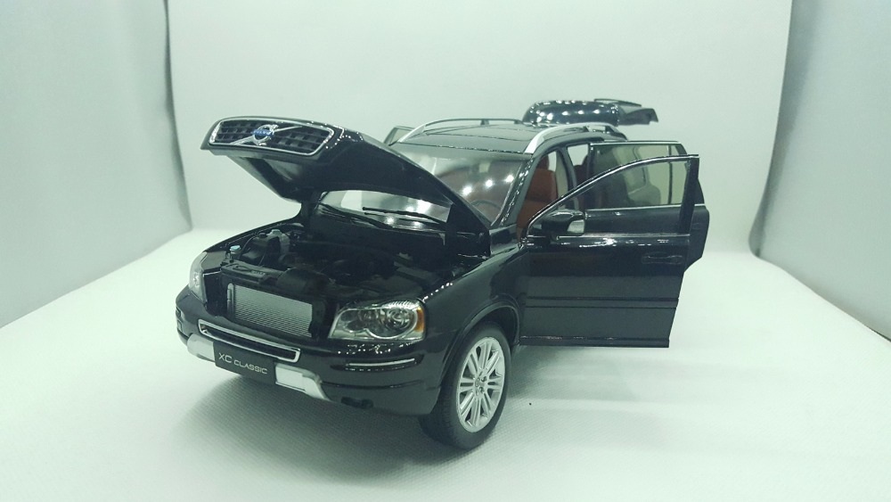 1:18 Diecast Model for Volvo XC90 XC Classic Black SUV Alloy Toy Car Miniature Collection Gifts XC 90 (Alloy Toy Car, Diecast Scale Model Car, Collectible Model Car, Miniature Collection Die-cast Toy Vehicles Gifts)