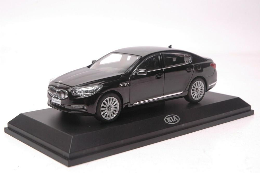1:32 Diecast Model for Kia K9 Quoris Black Sedan Alloy Toy Car Miniature Collection Gifts