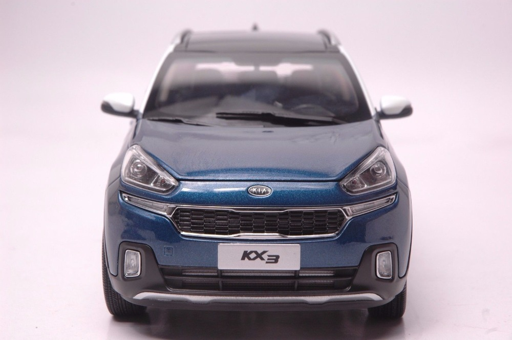 1:18 Diecast Model for Kia KX3 2016 Blue SUV Alloy Toy Car Miniature Collection Gifts (Alloy Toy Car, Diecast Scale Model Car, Collectible Model Car, Miniature Collection Die-cast Toy Vehicles Gifts)