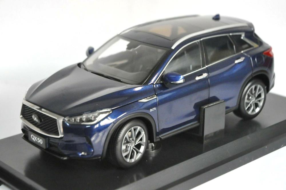 1:18 Diecast Model for Nissan Infiniti QX50 2018 Blue SUV Alloy Toy Car Miniature Collection Gifts Hot Selling QX EX25