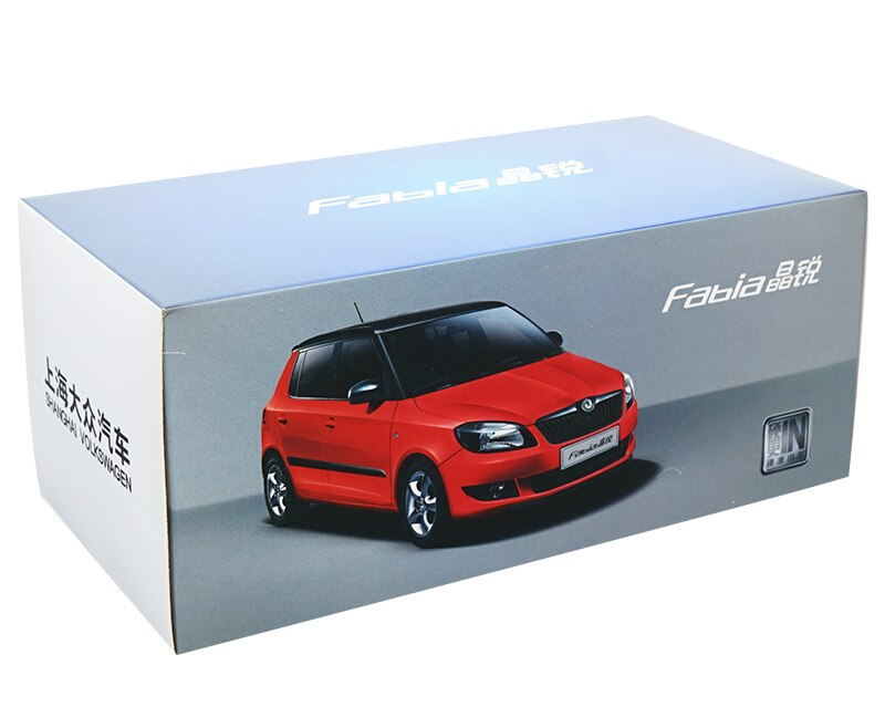 1:18 Diecast Model for Skoda Fabia 2012 Orange SUV Alloy Toy Car Miniature Collection Gifts