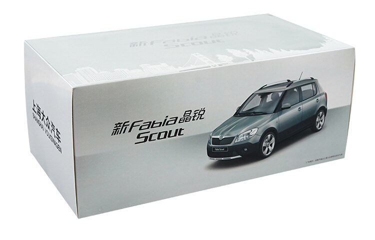 1:18 Diecast Model for Skoda Fabia Scout Red SUV Alloy Toy Car Miniature Collection Gifts