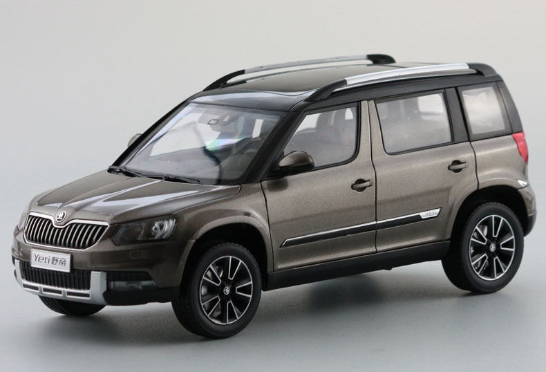 1:18 Diecast Model for Skoda Yeti Brown SUV Alloy Toy Car Miniature Collection Gifts (Alloy Toy Car, Diecast Scale Model Car, Collectible Model Car, Miniature Collection Die-cast Toy Vehicles Gifts)