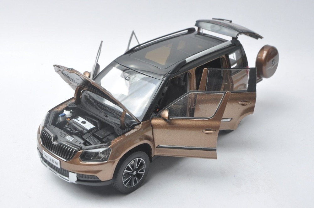 1:18 Diecast Model for Skoda Yeti Gobi Brown SUV Alloy Toy Car Miniature Collection Gifts (Alloy Toy Car, Diecast Scale Model Car, Collectible Model Car, Miniature Collection Die-cast Toy Vehicles Gifts)