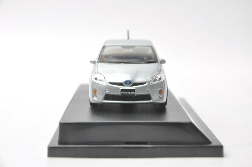 1:43 Diecast Model for Toyota Prius Hybrid Silver Blue Alloy Toy Car Miniature Collection Gifts