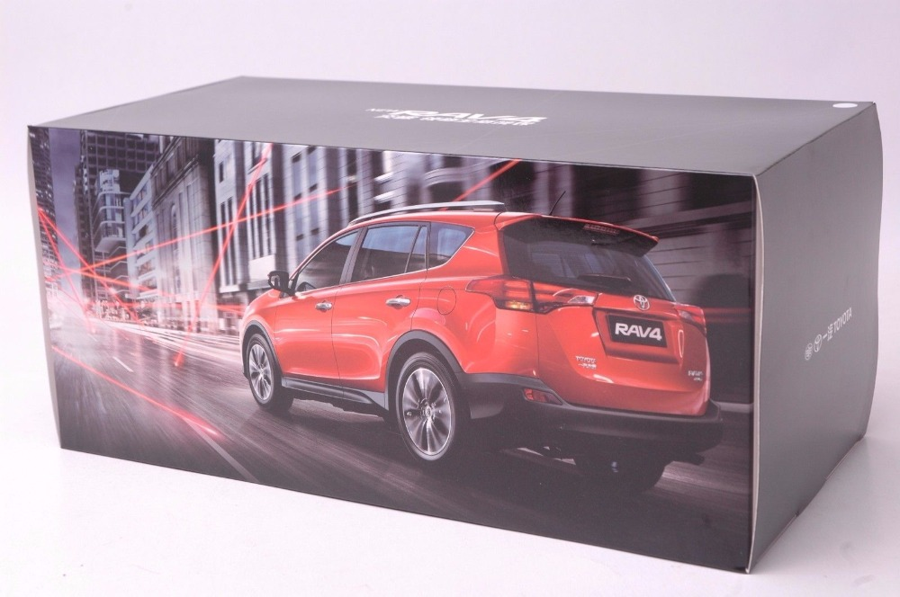 1:18 Diecast Model for Toyota RAV4 2013 Orange SUV Alloy Toy Car Miniature Collection Gifts (Alloy Toy Car, Diecast Scale Model Car, Collectible Model Car, Miniature Collection Die-cast Toy Vehicles Gifts)